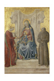 Enthroned Madonna with Child and Saints Gerhard and Katharina, C.1450 Giclee Print by Paolo Di Stefano Badaloni Schiavo