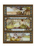 Lefevre-Utile, Biscuits, C.1910 Giclee Print by Alphonse Mucha