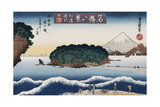 Clearing Weather, Enoshima', from the Series 'Eight Views of Famous Places' Giclee Print by Toyokuni II