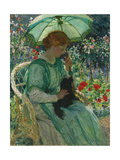 The Green Parasol, 1912 Giclee Print by Emmanuel Phillips Fox