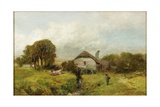 Mill Near Sheppard, Devon, C.1865 Giclee Print by James Peel