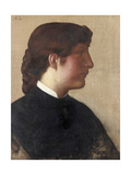 Portrait of a Lady, C.1879 Giclee Print by Alphonse Legros