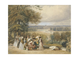 A Picnic on Richmond Hill Giclee Print by Joseph Murray Ince