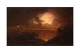 A View of Vesuvius Erupting by Night Giclee Print by Joseph Wright of Derby