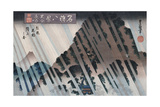 Night Rain, Oyama', from the Series 'Eight Views of Famous Places' Giclee Print by Toyokuni II