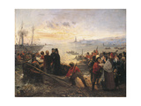 Boarding of Thousand at Quarto, 5 May 1860 Giclee Print by Girolamo Induno
