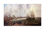 The Opening of Tyne Dock, 1859 Giclee Print by Mark Thompson