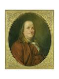 Portrait of Benjamin Franklin, C.1780-90 Giclee Print by Alexander Roslin