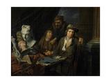 Artist's Studio, 1703 Giclee Print by Balthasar van den Bossche