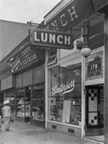 Canterbury Lunch Sign at 202 (Or 178) E. 125th Street, New York City, May 2, 1916 Photographic Print by William Davis Hassler