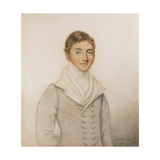 Portrait Miniature of a Gentleman in a Grey Coat, C.1816 Giclee Print by Samuel Jackson