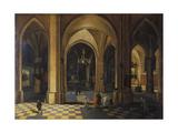Interior of a Gothic Church Giclee Print by Pieter The Elder Neeffs