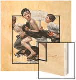 """No Swimming"", June 4,1921 Wood Print by Norman Rockwell"