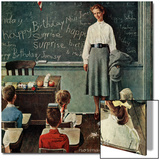 """""""Happy Birthday, Miss Jones"""", March 17,1956 Poster by Norman Rockwell"""