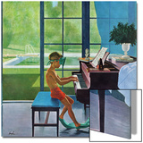 """Poolside Piano Practice,"" June 11, 1960 Posters by George Hughes"