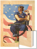 """Rosie the Riveter"", May 29,1943 Wood Print by Norman Rockwell"