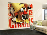 """Circus Clown and Poster,"" July 8, 1944 Wall Mural – Large by John Atherton"