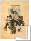 """Home from Vacation"", September 13,1930 Wood Print by Norman Rockwell"