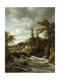 Waterfall in Norway Giclee Print by Jacob Isaaksz Ruisdael