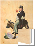 """Prospector"", July 13,1929 Wood Print by Norman Rockwell"
