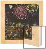 """Fireworks"", July 4, 1953 Wood Print by Ben Kimberly Prins"