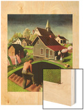 """Spring 1942,"" April 18, 1942 Wood Print by Grant Wood"