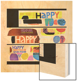 """Happy Collage,"" December 28, 1968 Wood Print"