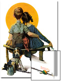"""Little Spooners"" or ""Sunset"", April 24,1926 Poster von Norman Rockwell"