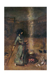 The Magic Circle Giclee Print by John William Waterhouse