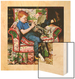 """Trumpeter"", November 18,1950 Wood Print by Norman Rockwell"