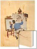 """Triple Self-Portrait"", February 13,1960 Wood Print by Norman Rockwell"