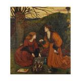 Pharmakeutria (Brewing the Love Philtre) Giclee Print by Marie Spartali Stillman