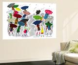 Umbrellas - Jack and Jill, April 1945 Reproduction murale par Stella May DaCosta