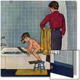 """Scuba in the Tub"", November 29, 1958 Print by Amos Sewell"