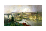 Newcastle Upon Tyne from Gateshead, 1895 Giclee Print by Niels Moller Lund