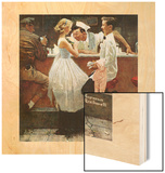 """After the Prom"", May 25,1957 Wood Print by Norman Rockwell"
