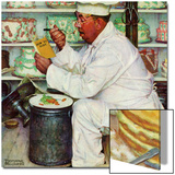 """How to Diet"", January 3,1953 Prints by Norman Rockwell"