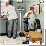 """Before the Shot"" or ""At the Doctor's"", March 15,1958 Posters by Norman Rockwell"