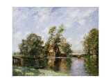 The Old Mill, Houghton, Cambridgeshire, C.1907 Gicléetryck av Thomas Edwin Mostyn
