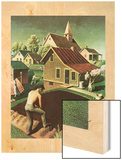 """Re print of ""Spring 1942"","" April 18, 1942 Wood Print by Grant Wood"