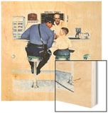 """Runaway"", September 20,1958 Wood Print by Norman Rockwell"