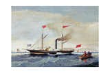 The Steam Tug 'Alfred' Off Tynemouth, C.1856 Giclee Print by John Scott