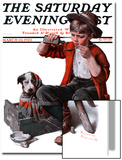 """Sick Puppy"" Saturday Evening Post Cover, March 10,1923 Posters by Norman Rockwell"