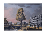 A View of the Herengracht Overlooking Binnenamstel and the Nieuwe Herengracht Giclee Print by Jonas Zeuner