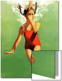 """""""Upotettu veden alle,"""" 9. elokuuta 1941 Posters tekijänä John Hyde Phillips"""