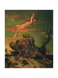 Ariel and Caliban, 1837 Giclee Print by David Scott