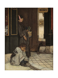 Begging Tolerated Giclee Print by Alfred Emile Stevens