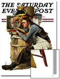 """Law Student"" Saturday Evening Post Cover, February 19,1927 Art by Norman Rockwell"