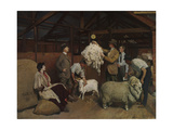 Weighing the Fleece, 1921 Giclee Print by George Washington Lambert