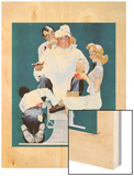 """Full Treatment"", May 18,1940 Wood Print by Norman Rockwell"